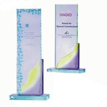 彩琉璃型彩琉璃獎座HA-181(A,B)彩透琉璃獎座